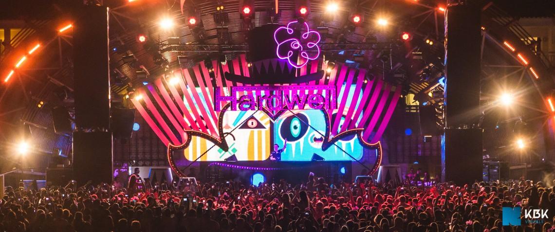 KBK Visuals at Hardwell's Carnival Ushuaia Ibiza